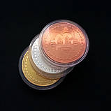 Сувенирная монета Bitcoin silver, фото 4