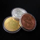 Сувенирная монета Bitcoin silver, фото 5
