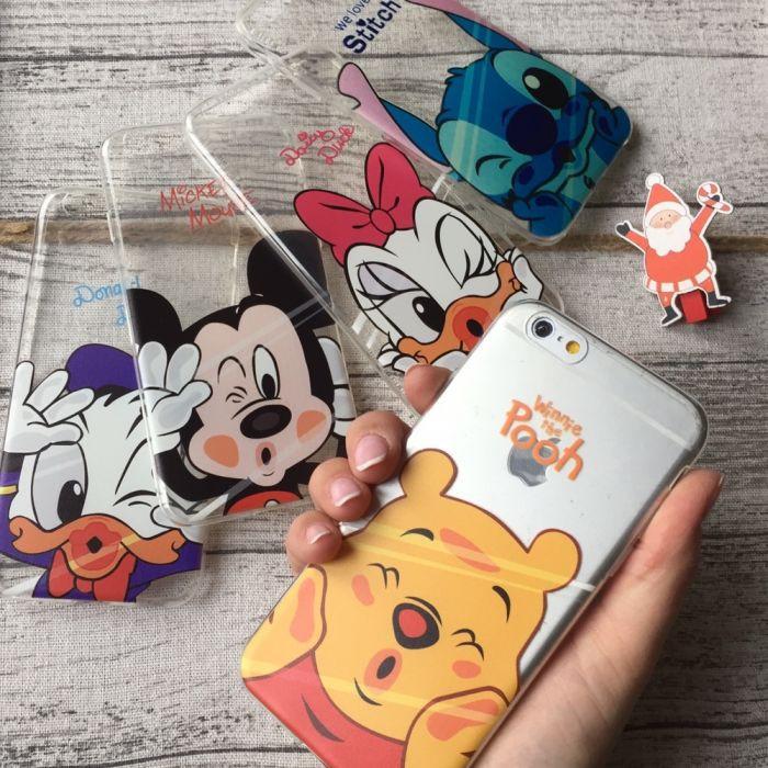 Чехол силиконовый Микки Минни Стич Дак iPhone 8 Plus (8+)