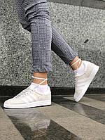 "Кроссовки женские Adidas Gazelle ""Crystal White"" (реплика А+++ )"