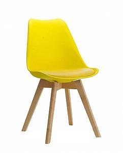 Пластиковый стул Тор желтый от SDM Group, сиденье с подушкой