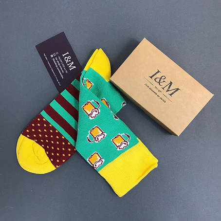 Шкарпетки I&M Craft зеленого кольору з принтом (070149), фото 2