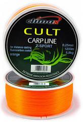 Леска Climax Cult Carp Line Z-Sport orange диаметр-0.22mm