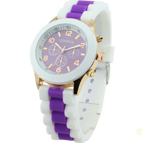 Часы женские наручные Geneva Multicolor purple (фиолетовый)