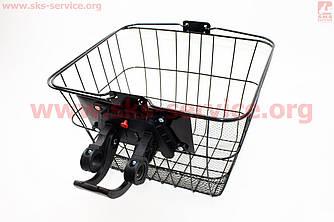 Велокорзина багажная на руль съемная, черная JL-CK095