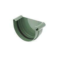 Заглушка ринви 125мм, права, Зелений RAL 6020