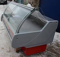 Холодильная витрина среднетемпературная «Технохолод Джорджия» 2 м. (Украина), широкая выкладка 86 см, Б/у, фото 1