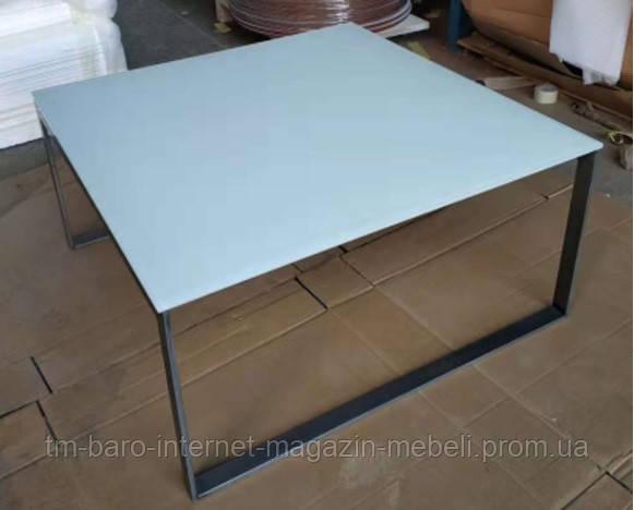 Стол журнальный Brighton S (Брайтон S) 89.5х89.5х45, белый стекло (Бесплатная доставка), Nicolas