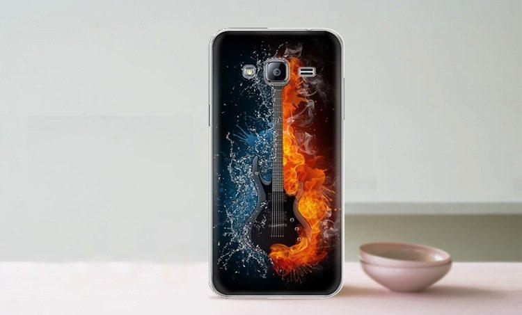 Чехол-накладка TPU Image Guitar для Samsung Galaxy J3 2016/J320