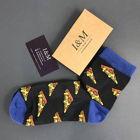 Носки I&M Craft Elegant's темно-серые с пиццой (070166), фото 2