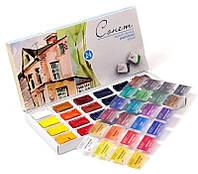 Набор акварельных красок Сонет 24 цвета, 2,5 мл., кюветы, к/к ЗХК