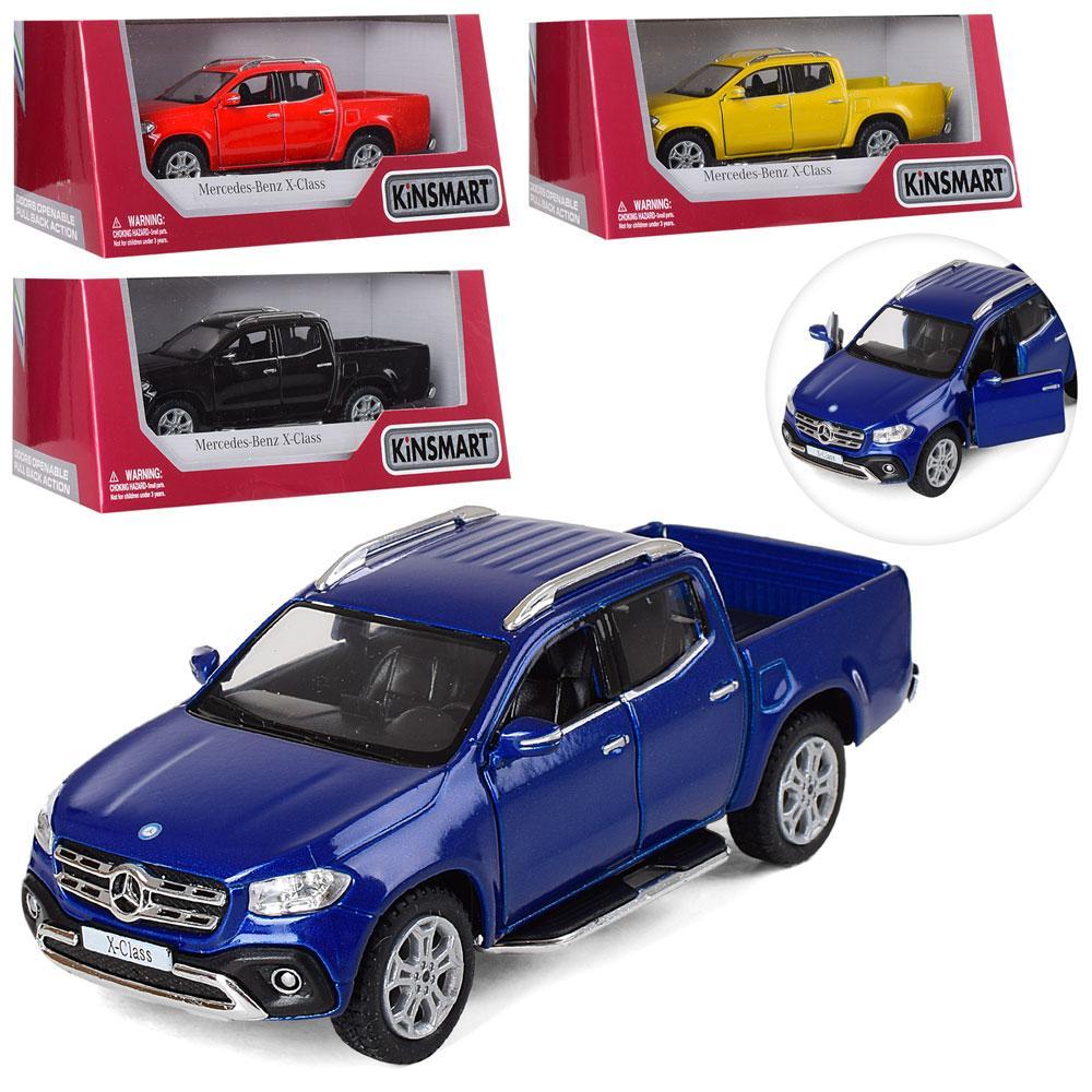 Машинка KT5410W (24шт) металл, инер-я,12,5см,1:42,откр.дв/багажн,рез.колеса,4цвета,в кор-ке,16-7-8см