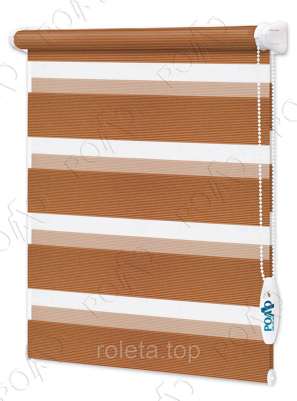 Ролеты день-ночь Line Светло-коричневые