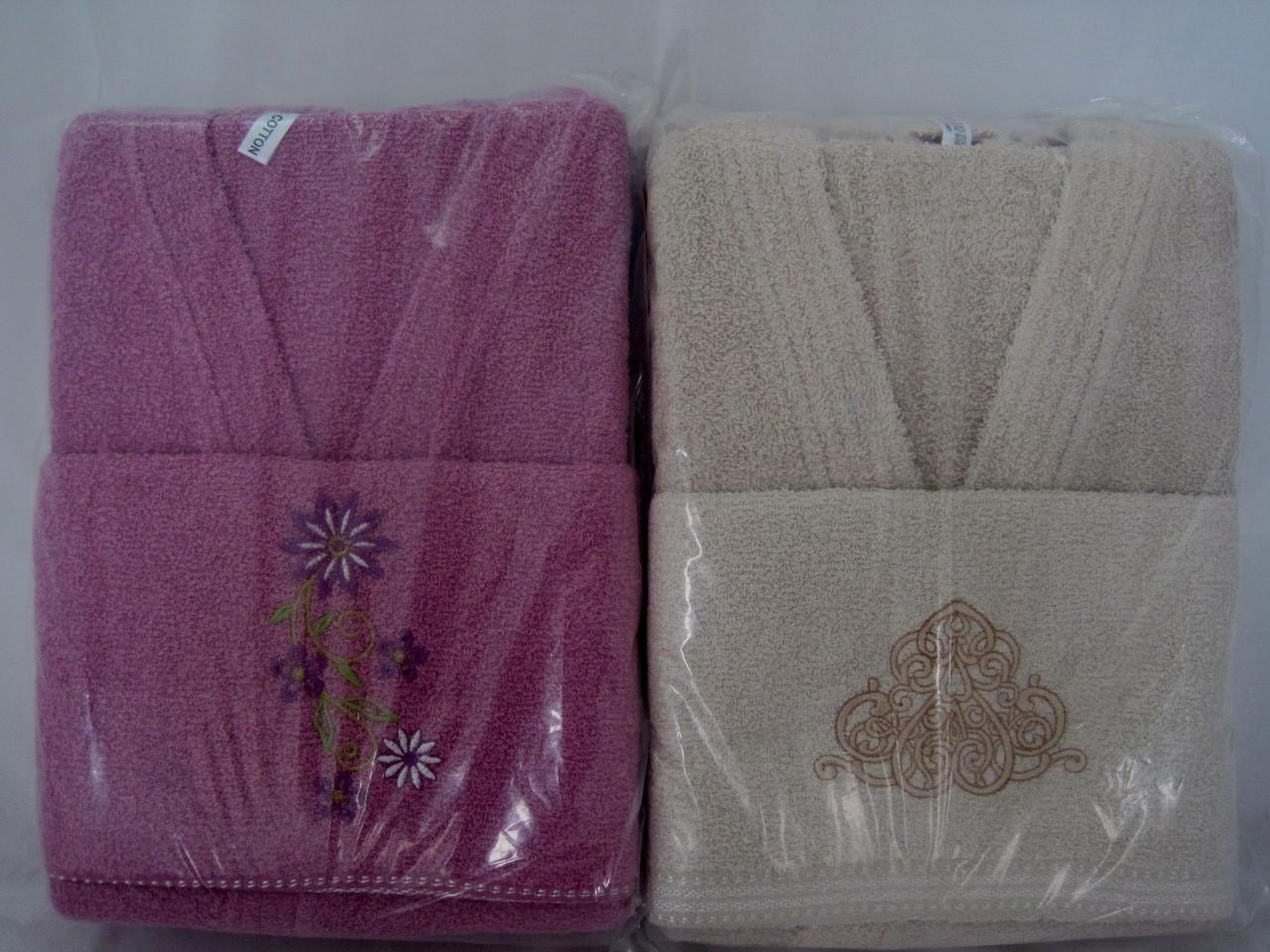 Семейный комплект 2 халата и 4 полотенца