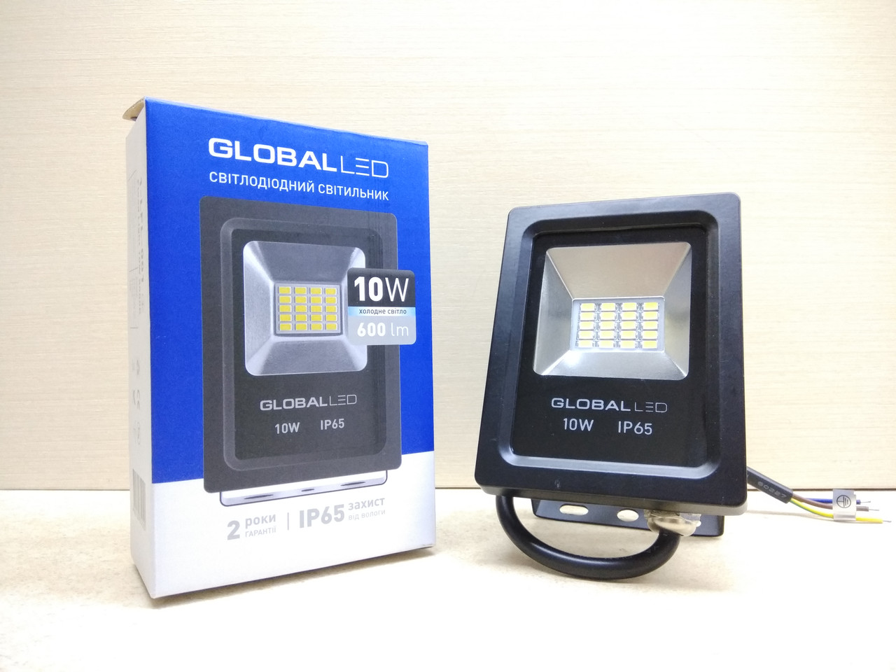 Светодиодный прожектор LED GLOBAL FLOOD LIGHT 10W 5000K ІР65 (1-LFL-001)