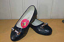 Туфли на девочку 33 р синие.