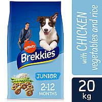 Brekkies (Бреккис) Dog Junior корм для щенков с кальцием и витаминами 20кг