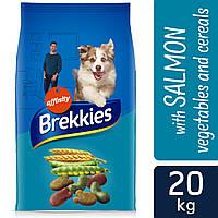 Brekkies (Бреккис) Dog  Mix Fish - корм для собак с лососем тунцом и овощами 20кг