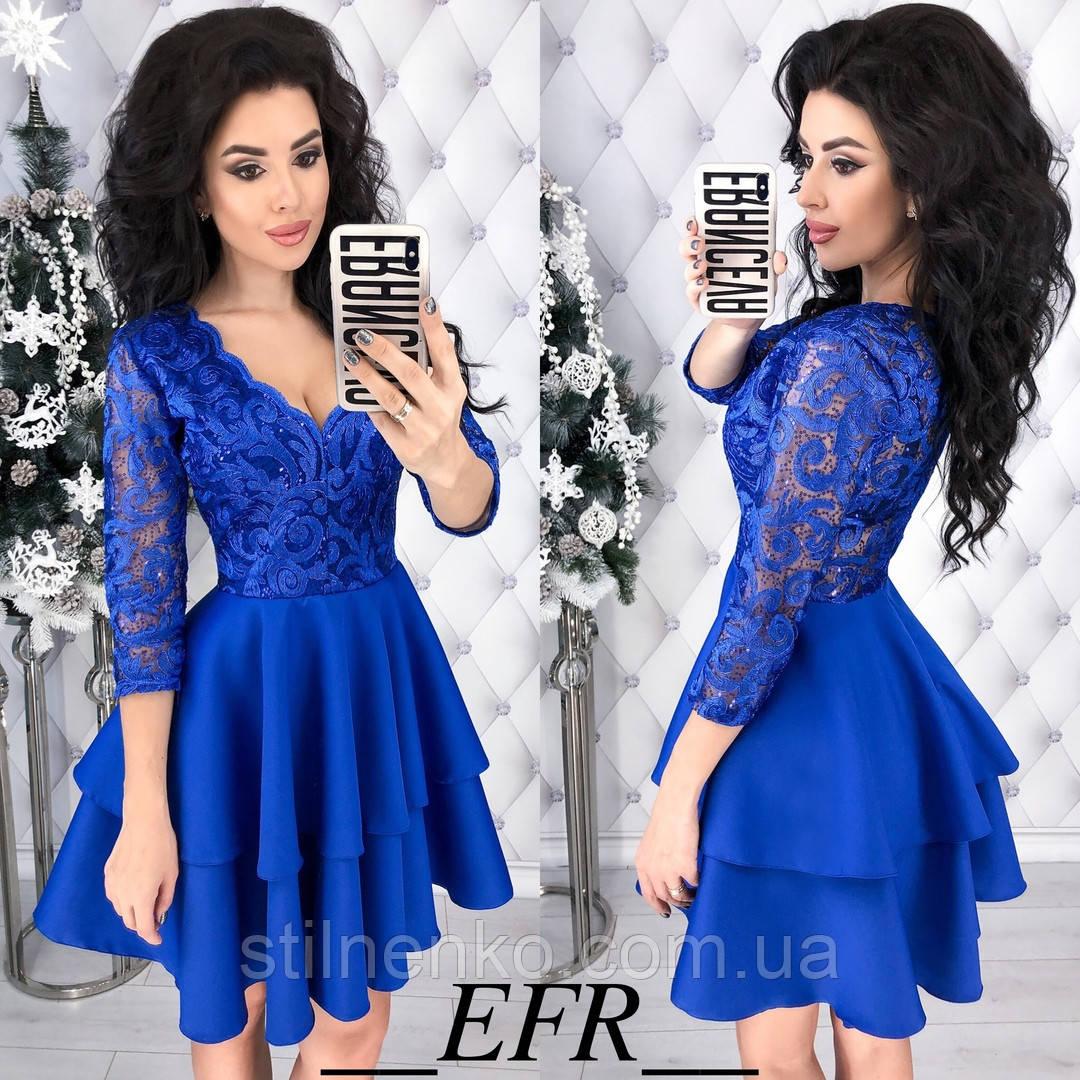 b3da85f28ee Красивое женское платье норма(с рюшиками)  продажа