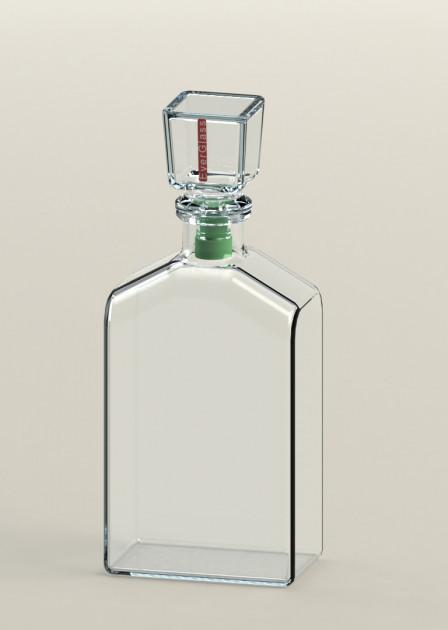 Графин стеклянный Everglass для напитков Ampel с зеленой вставкой 0,5 л