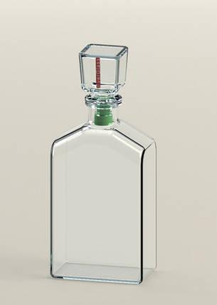 Графин стеклянный Everglass для напитков Ampel с зеленой вставкой 0,5 л , фото 2
