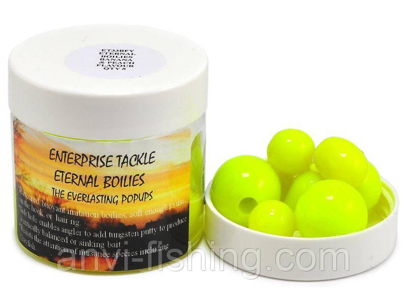 Задипованные бойлы Eternal Boilie Mixed 12, 15, 18mm Fluoro Yellow Banan&Peach