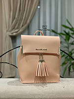 Стильный женский рюкзак!!!! кожзам. пудра, фото 2