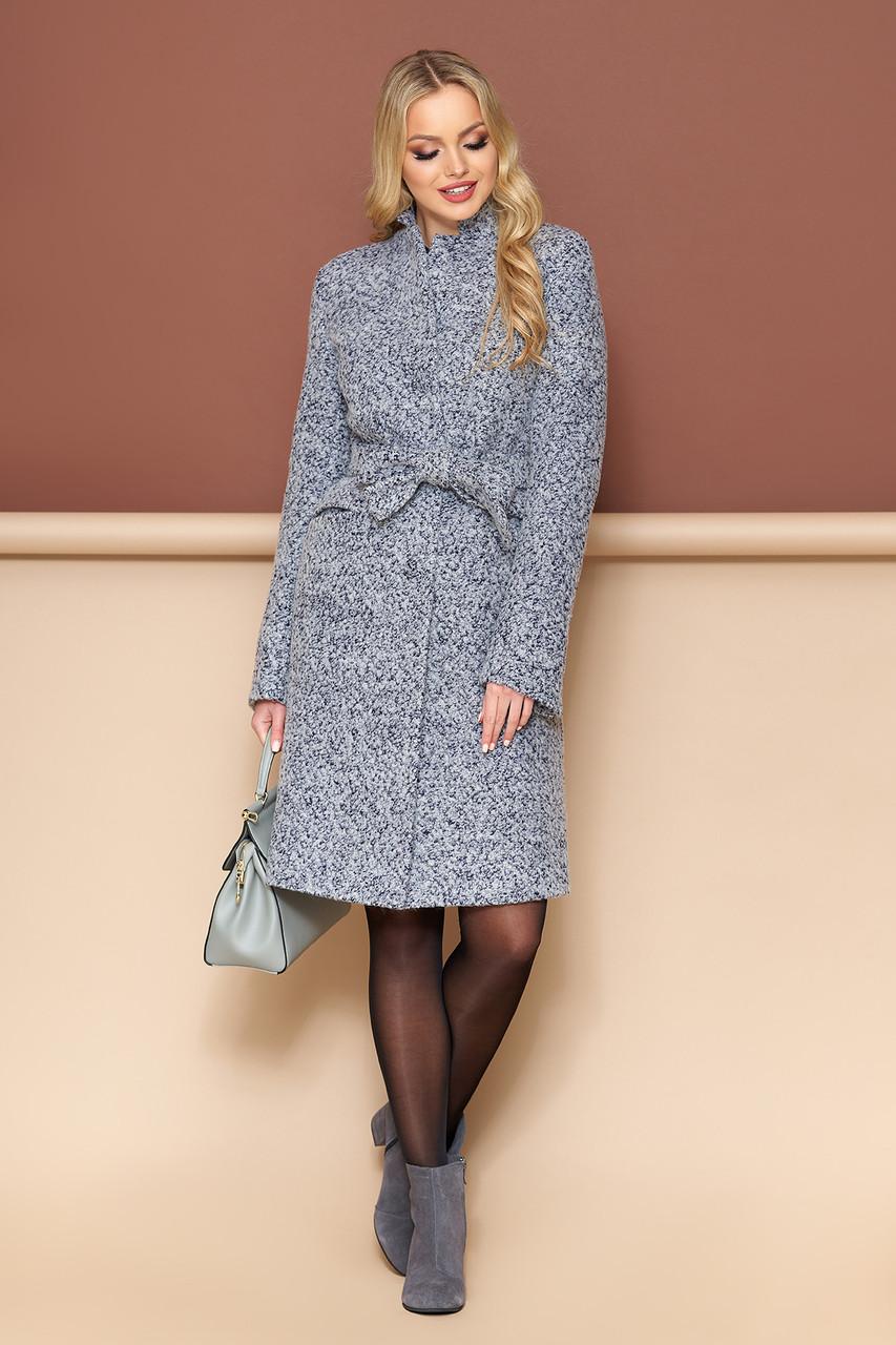 Женское демисезонное пальто шерстяное букле