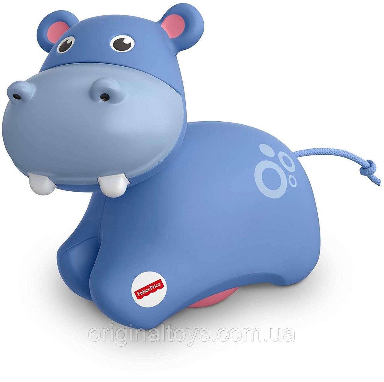 Fisher-Price Развивающая игрушка роллер Бегемот Roller Hippo FRR62