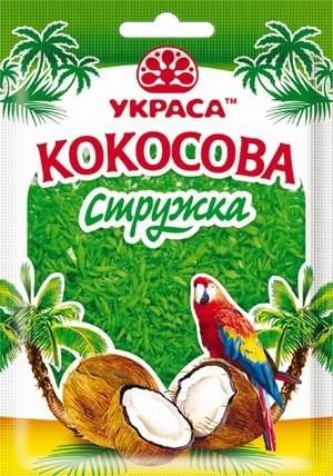 Кокосовая стружка ТМ Украса зеленая(код 00719)