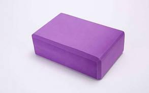 Йога-блок FI-5951-Ф (EVA 100гр, р, 23 x 15,5 x 8см, фиолетовый)