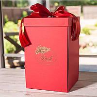 Подарочная коробка для розы в колбе Lerosh - 27 см, Красная - 138974