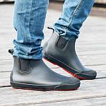 Мужские резиновые ботинки Псков Nordman Beat ПС 30 Черные с красной подошвой, фото 6