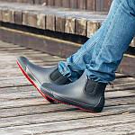 Мужские резиновые ботинки Псков Nordman Beat ПС 30 Черные с красной подошвой, фото 7