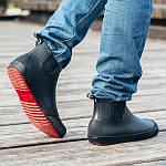 Мужские резиновые ботинки Псков Nordman Beat ПС 30 Черные с красной подошвой, фото 8
