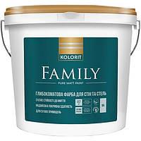 Фарба інтер'єрна KOLORIT Family  Матова фарба для стелі, 4,5 л