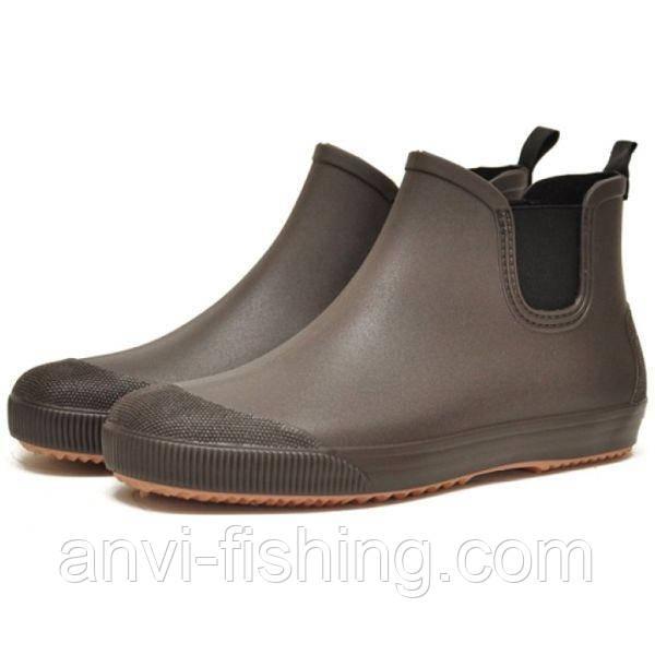 Мужские резиновые ботинки Псков Nordman Beat ПС 30 Коричневый с бежевой подошвой
