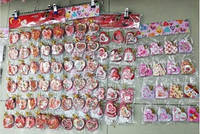 """Поздравительные открытки """"Валентинки''  фигурные сердца маленькие (5,7x5,8 см, 200 шт в блистере)."""