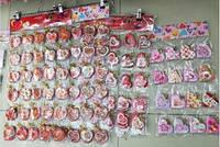 """Вітальні листівки """"Валентинки"""" фігурні серця маленькі (5,7x5,8 см, 200 шт у блістері)."""