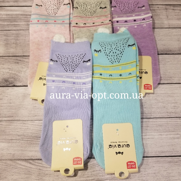Aura.via. Детские носки с ушками зверушками