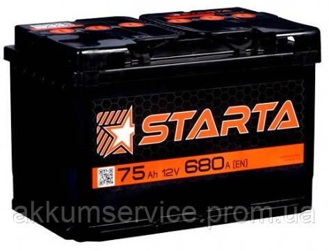 Аккумулятор автомобильный Starta 75AH R+ 680А
