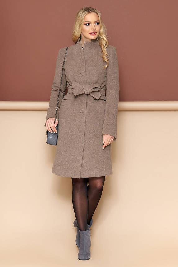 Женское пальто из кашемира демисезонное капучино, фото 2