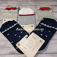 Aura.via. Короткие женские носки с сердечком на пятке Хлопок. Люрекс