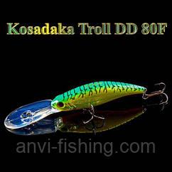 Воблер Kosadaka Troll DD 80F