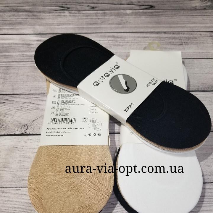 Aura.via. Невидимые женские носки Полиамид. Комлекты по 3 пары