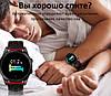 Фитнес браслет R13 цветной дисплей тонометр давления крови для iPhone Android трекер пульсометр черный металл - Фото