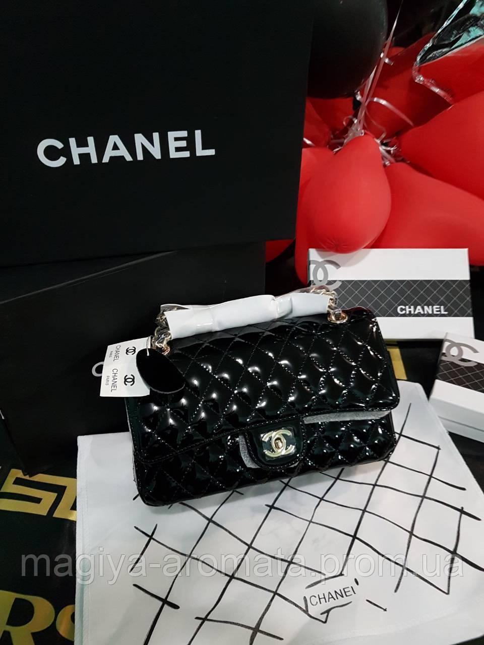 c9cb864a8da1 Женская брендовая сумка Лак Кожа (Чёрная) Original quality: продажа ...