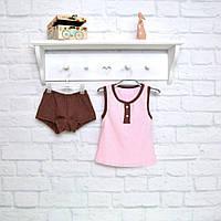 Комплект для сна детский розовый кулир пенье