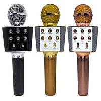 Микрофон Караоке WSTER WS-1688 Оригинал! Портативный Bluetooth микрофон с функцией изменения голоса