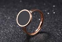 Кольцо розовое золото с фианитом размер 7, фото 1